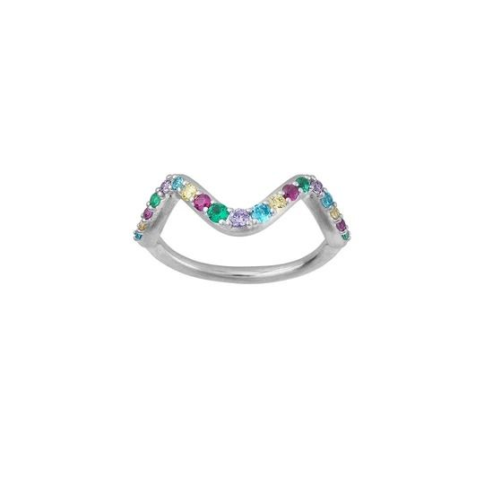 byBiehl - Wave rainbow ring small - 5-3705m-R