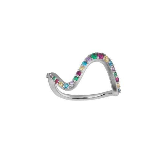 byBiehl - Wave rainbow ring large - 5-3706m-R