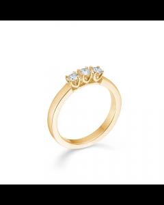 "Mads Z - 14 kt. ring ""Crown Alliance"" 3 x 0,09 ct. W.SI - 1541893"