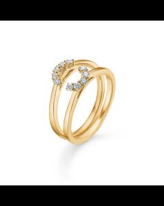 "Mads Z - 14 kt. ring ""Crown Tiara"" 0,20 ct. brill. W.SI   - 1541920"