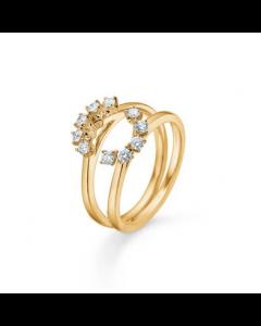 """Mads Z - 14 kt. ring """"Crown Tiara"""" 0,40 ct. W.SI   - 1541940"""