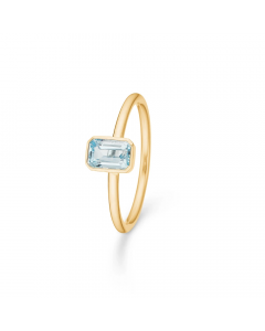 "Mads Z - 14 kt. ring ""Aurora"" m. blå topas - 1546501"