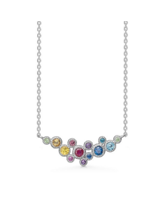 """Mads Z - 14 kt. hvg. halskæde """"Luxury Rainbow"""" - 1624062"""