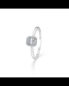 """Mads Z - 14 kt. hvg. ring """"Elizabeth"""" m. 0,09 ct. W.SI - 1641030"""