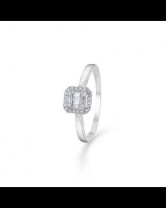 """Mads Z - 14 kt. hvg. ring """"Elizabeth"""" m. 0,18 ct. W.SI - 1641031"""