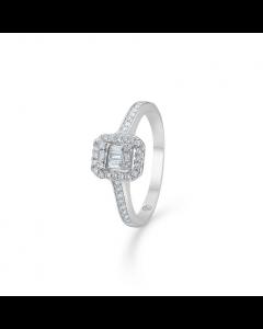 """Mads Z - 14 kt. hvg. ring """"Elizabeth"""" m. 0,33 ct. W.SI - 1641032"""