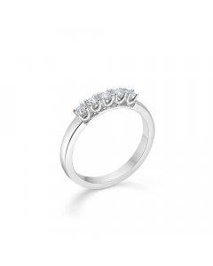 "Mads Z - 14 kt. hvg.ring ""Crown Alliance"" 5 x 0,04 ct. W.SI - 1641845"