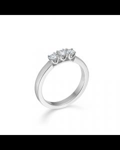 "Mads Z - 14 kt. hv  ring ""Crown Alliance"" 3 x 0,09 ct. W.SI - 1641893"