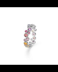 "Mads Z - 14 kt. hvg. ring ""Luxury Rainbow"" - 1644062"