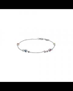 """Mads Z - 14 kt. hvidguld armbånd """"Luxury Rainbow"""" - 1654062"""