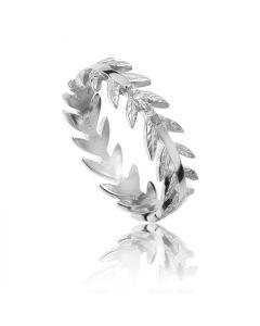 Bykjaergaard - Arktisk pil ring sølv med champagne farvede diamanter -  jbrs0330d