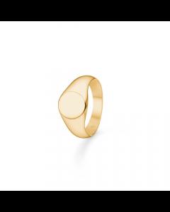 """Mads Z - 8 kt. ring """"Signet"""" rund - 3340181"""