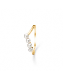 """Mads Z - 8 kt. ring """"4 Pearls"""" m. perle - 3343117"""