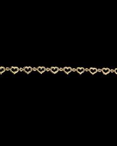 Scrouples - *Armbånd hjerter 8 kt. - 205142E