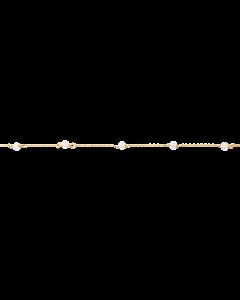 Scrouples - *Armbånd rosa quartz sølv fg. - 3095-8