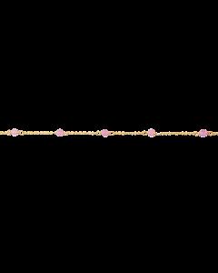 Scrouples - *Armbånd pink jade sølv fg. - 3095-9