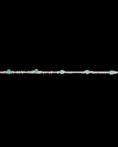 Scrouples - *Armbånd grøn agat sølv  - 3212FG-S