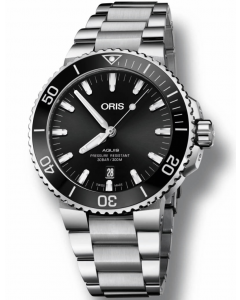 ORIS - Aquis Date Polished Black - 73377304134MB