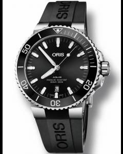ORIS - Aquis Date Polished Black - 73377304134RS