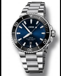 ORIS - Aquis Date Blue - 73377304135MB
