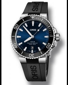 ORIS - Aquis Date Blue - 73377304135RS