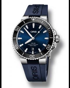 ORIS - Aquis Date Blue - 73377304135RSBLUE