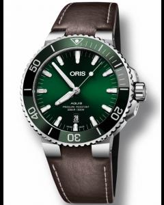 ORIS - Aquis Date Green - 73377304157LSBROWN