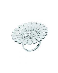 Lund Copenhagen - Marguerit ring 36mm med hvid emalje 925 - 907036-H