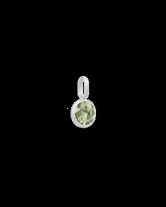 Julie Sandlau - Cocktail mini Vedhæng - Rhodium/Dusty Green - PD183RHDGSP