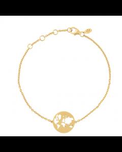 byBiehl - Beautiful World armbånd - solid guld - 2-1602-G